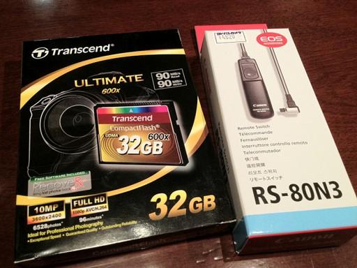 32GB CFとリモートスイッチ