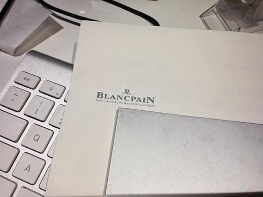 BLANCPAINの担当者からきた手書きの手紙