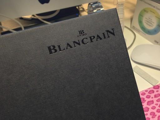 BLANCPAINのカタログのロゴ